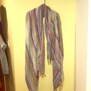 Accessories - Beautiful stripes blanket scarf